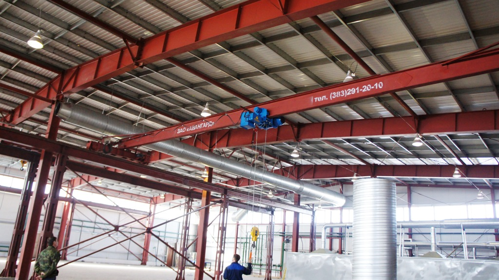 Устройство подкрановых путей, изготовление и монтаж кранов мостовых опорных г/п 3,2 тн.  Lпролет=15000 мм в новом...